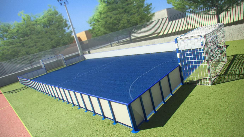 Pista futbol sala dimensiones cancha de futbol sala para for Pista de futbol sala medidas